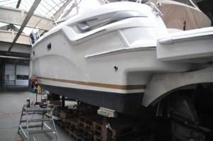 Boot polieren
